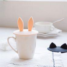 Прекрасная силиконовая крышка в виде ушей кролика крышка чашки Анти-пыль крышка кофейной кружки герметичное уплотнение напиток чаша крышка горячая чашка крышка кухня домашний декор