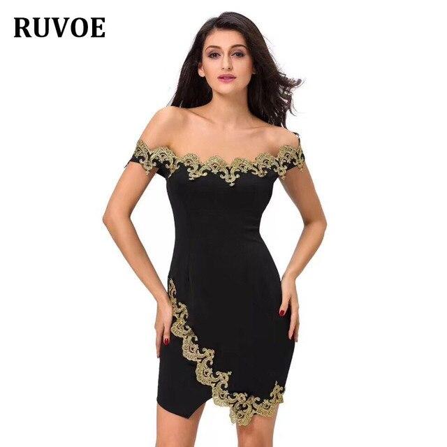 12d66d75801e High Quality Black Slash Neck Gold Lace Mini Bodycon Rayon Bandage Dress  Evening Party Bodycon Dress Q-21