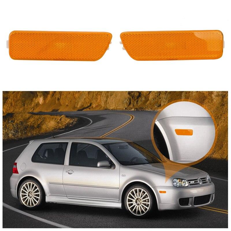 Front Side Marker Lights Turn Signal Lamp Indicators For Volkswagen VW Golf 4 Jetta MK4 1999-2005 Blinker Yellow Black Lens /