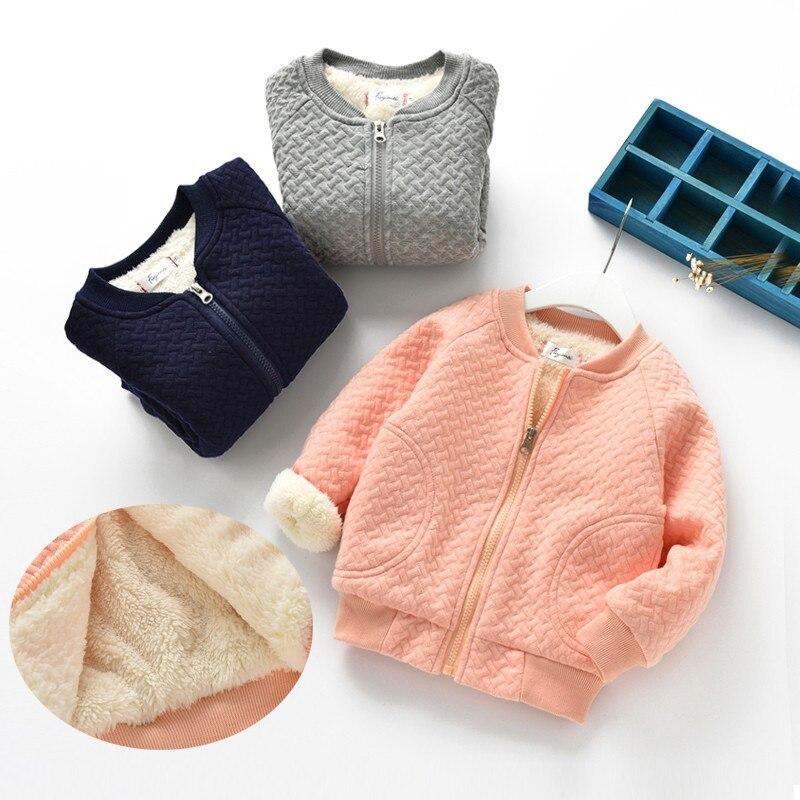BibiCola Winter Warme Baby Jungen Mädchen Mäntel Jacke Für Jungen Mädchen Warme Plus Samt Verdicken Kleidung Strickjacke Kinder Oberbekleidung