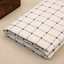50*150cm Plaid cotton linen blend fabric DIY sewing upholstery for curatin ,tablecloth  home decor material