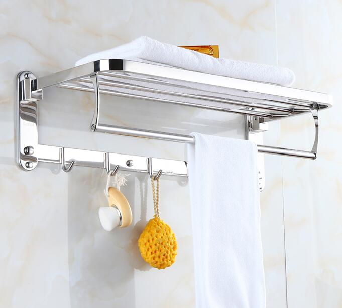 wholesale and retail Towel Racks Bathroom chrome Finish foldable Bath Towel Shelves Towel Bar Bath Hardware free shipping meifuju new arrival towel racks luxury bathroom accessories high quality golden finish bath towel shelf towel bar bath hardware