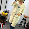New Autumn Winter Women Poncho Cardigan Full Sleeve Solid Pockets Female Sweater Casual Knitting Long Coat Outwear Pull Femme