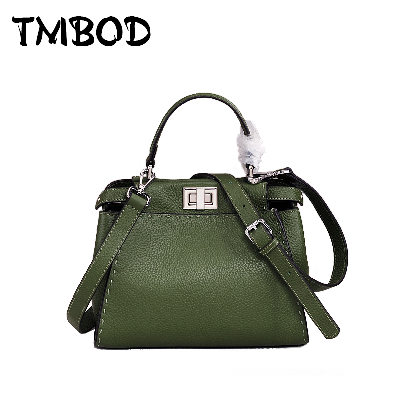 New 2018 Designer Classic Cowhide Tote Chic Bag Women Genuine Leather Handbags Ladies Bag Messenger Bags For Female an853 100% genuine leather women messenger bags nature cowhide ladies shoulder tote bags female handbags yx04