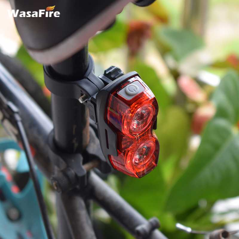 WasaFire Bicycle Rear Light 2 LED Red Taillight Flashlight Cycling Bike Lighr Lamp Lanterna AAA Battery Bike Light Bicycle Lamps