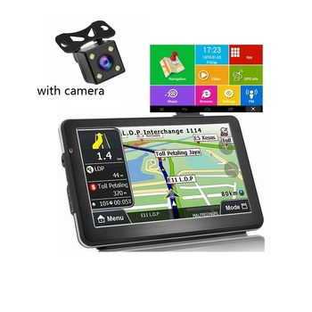 KMDRIVE 5″ 7″ Inch Android Quad Core 16GB Car GPS Navigation Sat Na AV-IN Bluetooth WIFI  FM Transmitter Bundle Free maps