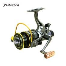 YUMOSHI Fishing Reel 5.2:1 10+1BB Front Rear Drag Reels 3000 4000 5000 6000 Spinning Wheel Sea Fishing Tackle Rock Lure Pesca