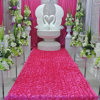 Wedding Decoration Home Party Table Skirt Stage Backdrop 3D Rose Petal Door Curtains Photo Booth
