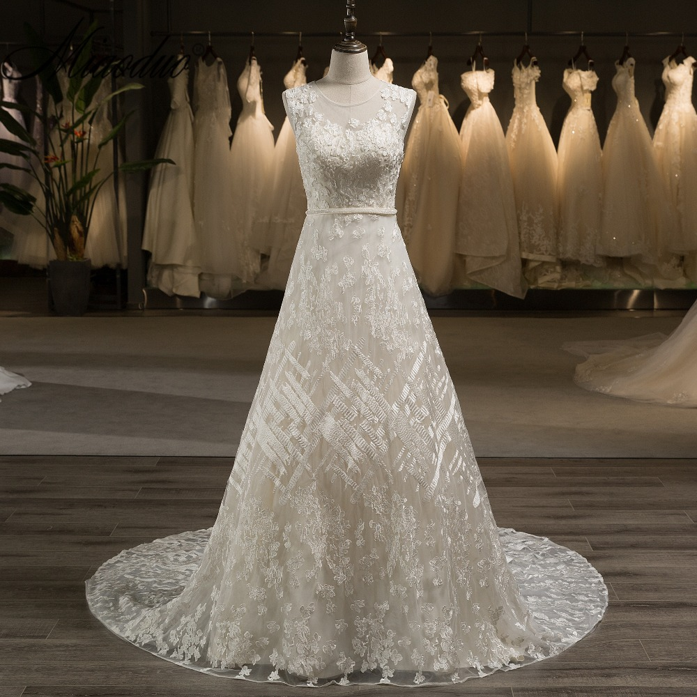 Champagne Lace Wedding Gown: Aliexpress.com : Buy New Miaoduo 2018 Champagne Wedding