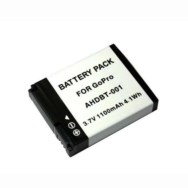 GOLDFOX 1PCS 1100mAh AHDBT-001 Action Camera Battery For GoPro Hero 2 1 Hero1 Hero2  AHDBT-001 Battery For Go Pro Accessories
