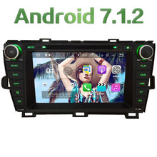 "8"" 2GB RAM Quad Core 4G Android 7.1.2 DAB+ Wifi Multimedia Car DVD Player Stereo Radio GPS Navi for Toyota Prius LHD 2009-2015"