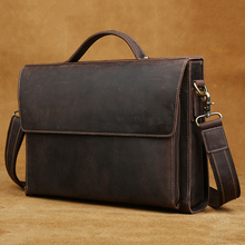 hot deal buy 2018 genuine leather briefcases carry on handbag 13.1