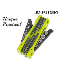JM PJ1004 Portable Screwdriver Bit Socket Hex Key Bottle Opener Multifunction Outdoor Folding Tools Repair Bicycle
