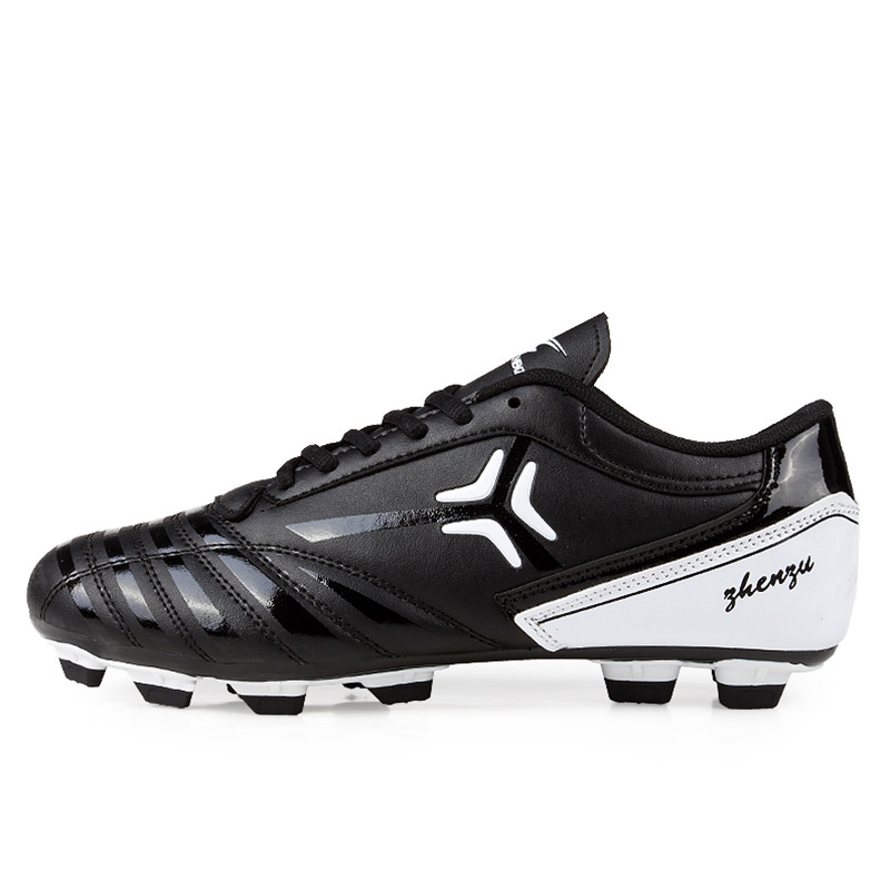 New Men Soccer Shoes black and white classic Training Football Shoes Men Specialty Soccer Boots zapatos de futbol chuteiras maultby kid s boy children blue black ag sole outdoor cleats football boots shoes soccer cleats s31702b