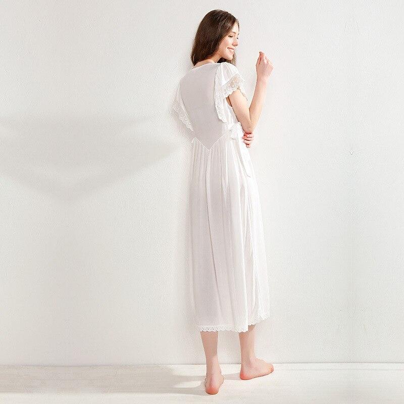 Woman Nightgowns Summer Sweet Cute Princess Short Sleeve Nightdress Sexy V Neck Thin Style Sleepwear Female D180818dx in Nightgowns Sleepshirts from Underwear Sleepwears