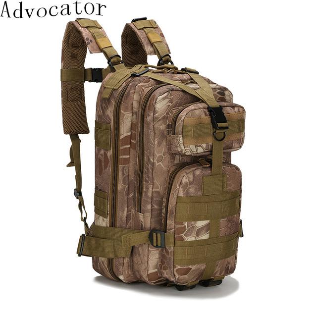 Advocator 3d mochila militar del ejército bolsa de viaje de gran capacidad mochila bolso de escuela de nylon impermeable de camuflaje hombres mochila