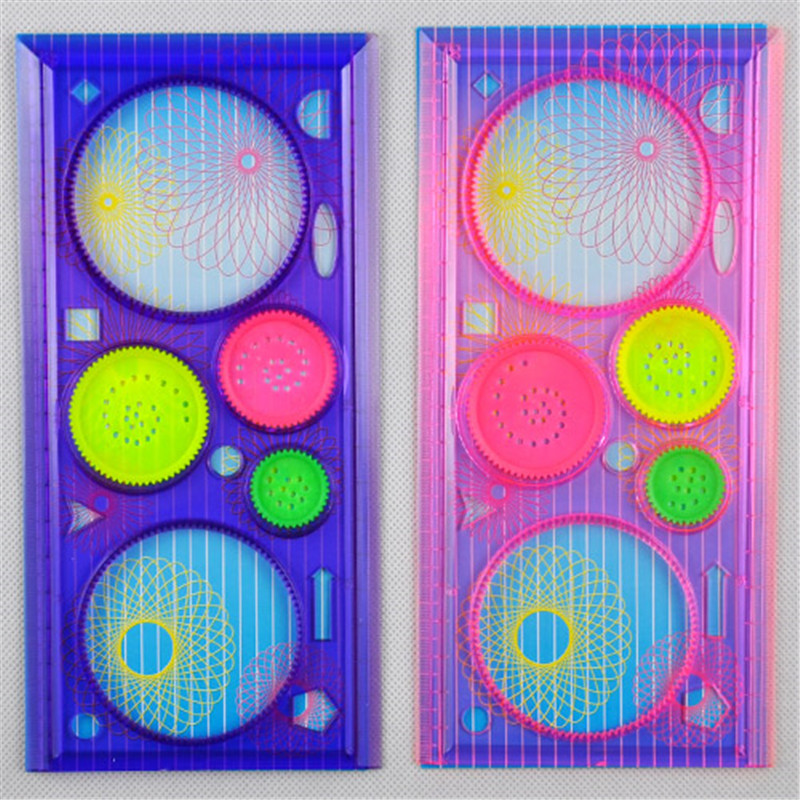 School & Educational Supplies Office & School Supplies Well-Educated Painting Multi-function Puzzle Spirograph Geometric Ruler Drafting Tools For Students Drawing Toys Children Learning Art Tool Clients First