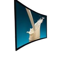 16:9 aluminium Kino Gebogenen Festen Rahmen Projektor Bildschirm mit FlexibleAcoustically Transparent Stoff Bildschirm und schwarz v