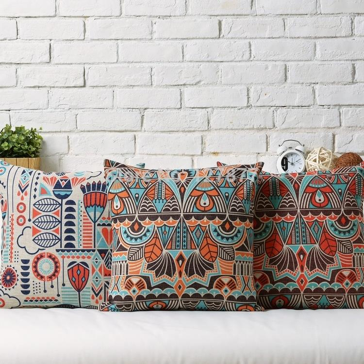pillow sofa ari couch bohemian cushion colorful pillows embroidered throw mcl boho pl cover strp x