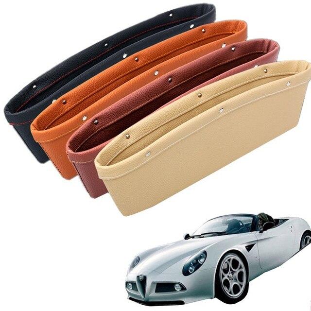 2PCS Upgrade Four Generations Vehicle Interior Storage Box For Auto Car Seat Gap Plug Leak-proof  Automotive Travel Accessories