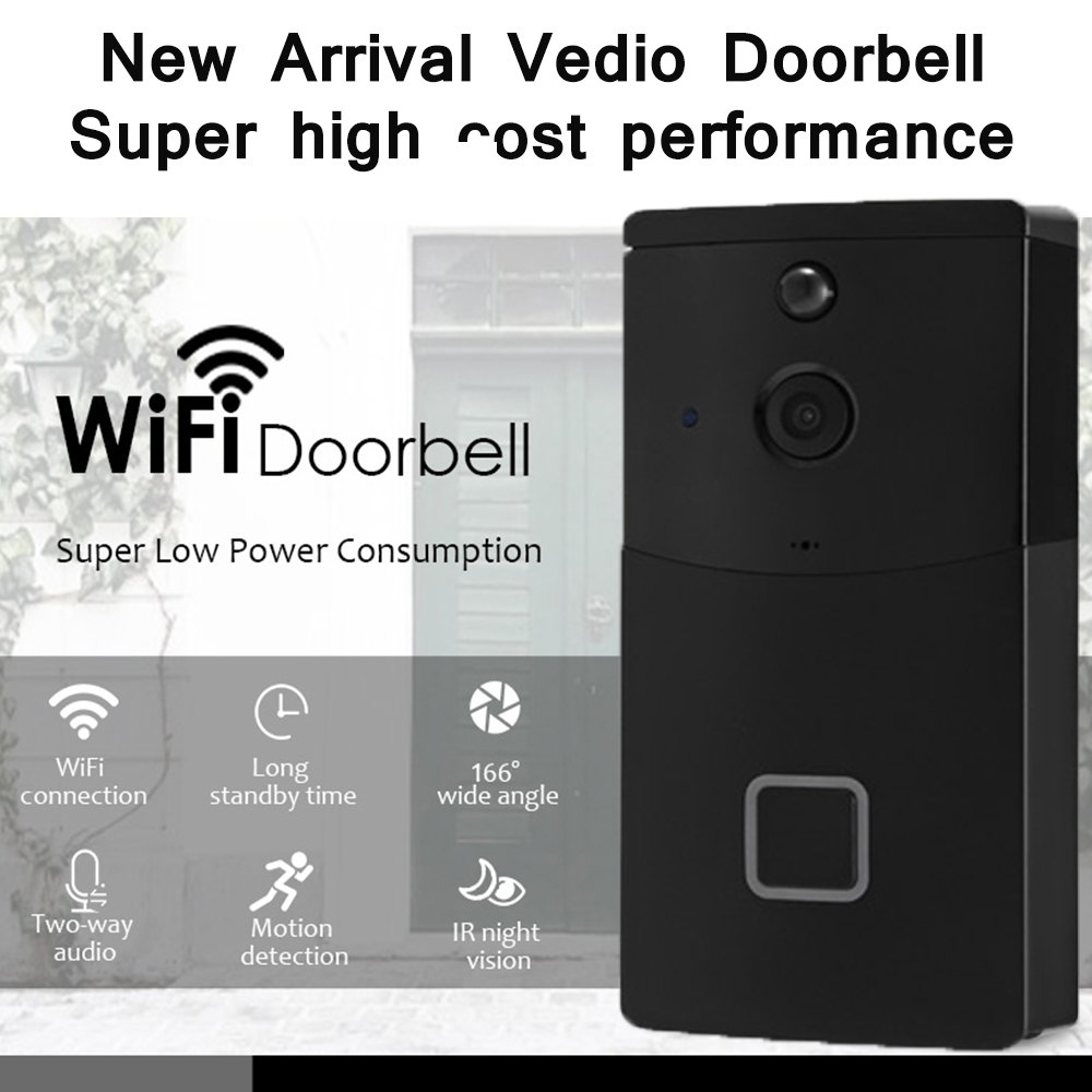 720P Wireless WiFi HD Video Doorbell Two-Way Audio Night Vision Motion Detection Smart Door Intercom 6 Month Standby Time720P Wireless WiFi HD Video Doorbell Two-Way Audio Night Vision Motion Detection Smart Door Intercom 6 Month Standby Time