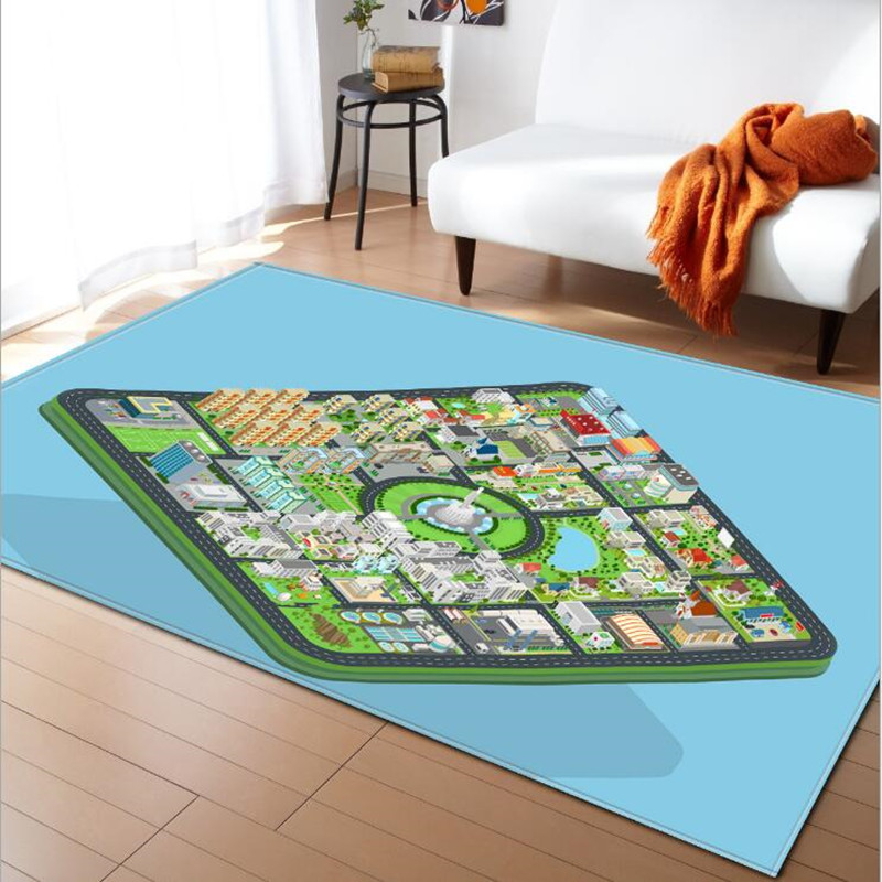 Kids Cartoon print rugs and carpets for Home living room rug baby bedroom Crawl tapetes para casa sala Child Anti-slip carpet