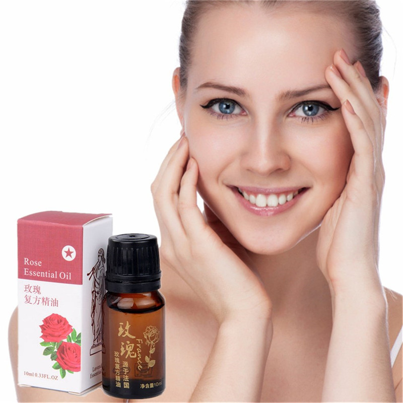 10ml/Bottle Rose essential oil Care Acne Shrink Pores Balan Grease Face Remove Grease Oil Rose essential