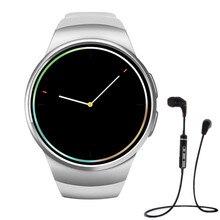 MTK2502C KW18 Bluetooth Smart touch Uhr unterstützung GSM Sim TF Pulsmesser NFC SmartWatch Für IOS Android Smart telefon