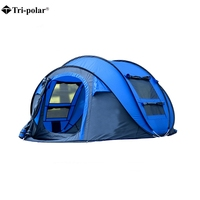 Tri Polar Large Throw Tent Outdoor 3 4Persons Automatic Speed Open Throwing Pop Up Windproof Waterproof