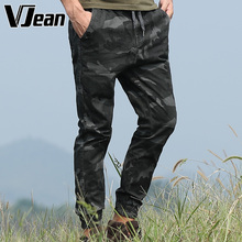 V JEAN Men's Vintage Camouflage cotton cultivation Pants with Cargo Pockets