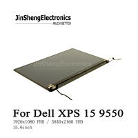 9550 высокое качество 15,6 ЖК экран в сборе для Dell XPS 15 9550 P56F ЖК дисплей сенсорный экран с рамкой + петли в сборе