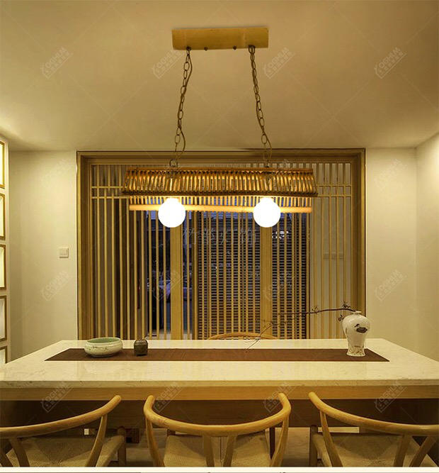 new Chinese creative bamboo Pendant Lights wood living room lights Asian restaurant and teahouse retro Pendant lamps LU725213 chinese bamboo pendant lights character living room restaurant aisle hotel club hot pot chinese creative pendant lamps za