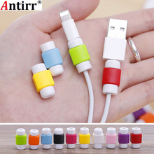 10pcs Silicone USB Cable Protector Earphone Plastic Cord Wire Cover Data Charger line Protective Sleeve For iphone 6 6s 7 8 plus