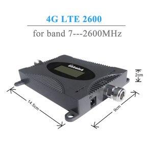 Image 2 - Lintratek 4G LTE משחזר 2600 MHz LCD תצוגת אות סלולארי מיני גודל FDD 2600 4G נייד אות מגבר אנטנת סט @