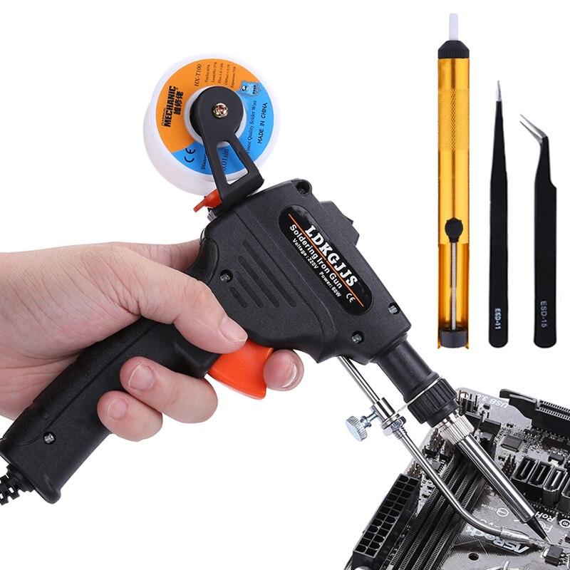 110 V/220 V 60W Hand-held Aquecimento Interno de Solda Elétrica Ferro De Solda Pistola de Solda Enviar Automaticamente ferramentas De Soldagem BGA estanho