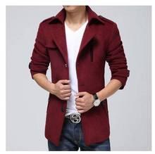 Зима повседневная шерстяное пальто мужчины плюс размер длинный отрезок тонкий отложным воротником шерстяные куртки для мужчин roupas masculinas de marca S770