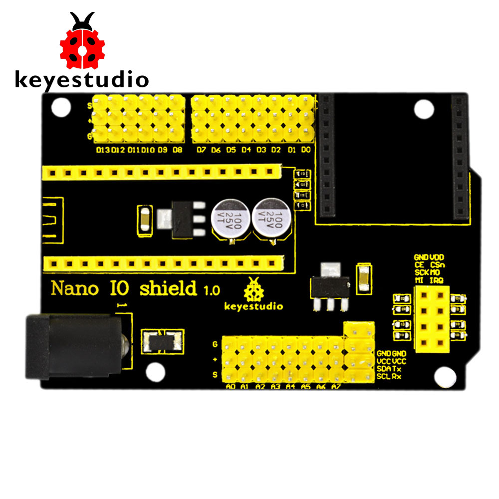 Free shipping! NEW Keyestudio Nano IO shield for XBEE and NRF24L01 Socket for arduinoFree shipping! NEW Keyestudio Nano IO shield for XBEE and NRF24L01 Socket for arduino