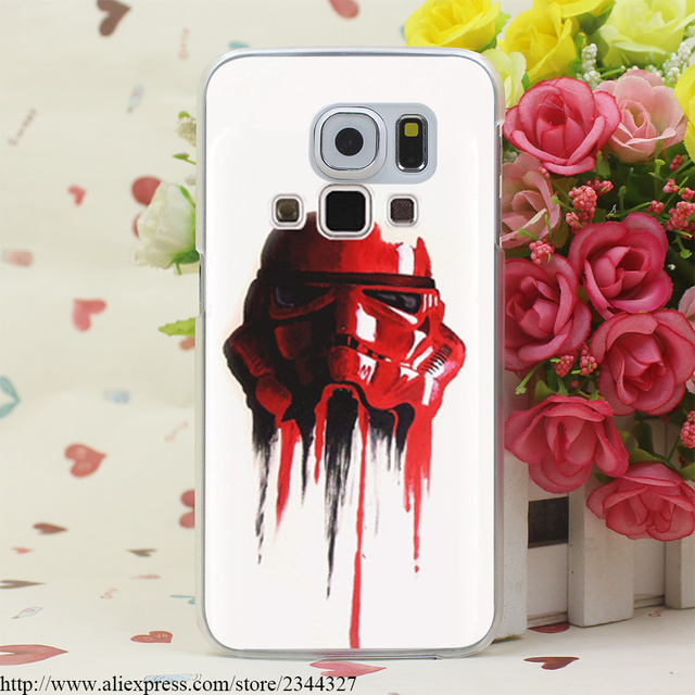 star wars coffee stormtrooper Hard Transparent Case Cover for Samsung Galaxy S3 S4 S5 Mini S6 S7 S8 Edge Plus Case