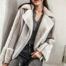 New Real Mink Fur Coat Women Casucal Genuine Mink Fur Jacket Women Winter Ladies Cashmere Angola Wool Sweater Natural Fur Coat