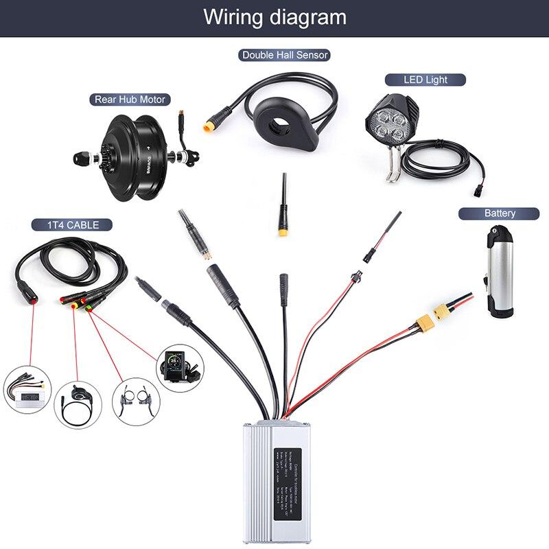 Bafang 48V 500W Electric Bicycle Gear Hub Motor Rear Wheel Drive Electric  Bike Conversion Kit For Cassette & Freewheel EBike Kit