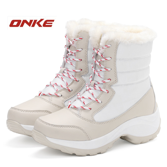 Brand Women Winter Shoes Women's Snow Shoes Winter Warm Shoes Ankle Waterproof Shoes EUR 35-41