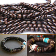 Fashion coconut husk Wood Spacer Beads 2*8mm 3*10mm 3*12mm Natural Ball for DIY Bracelet For Women men Wholesale