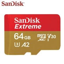 Original SanDisk Extreme Micro Sd-karte 64GB 128GB 256GB Trans Flash Speicher Karte U3 A2 SDXC V30 TF Karte Microsd Für Telefon/Kamera