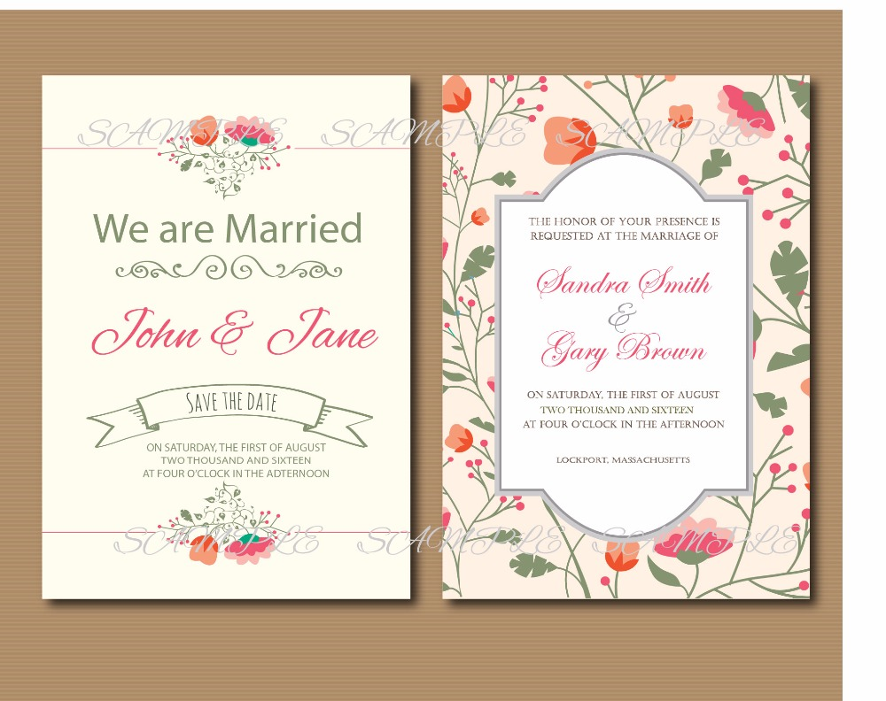 20 pcs/lot Vintage floral Wedding invitation set Rustic Lace Wedding ...