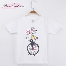 New Arrivals Kids T-shirt Cartoon Mouse Printing Cotton Child shirts Boy Short Sleeve T Shirts Girls Clothes Tops Free Shipping