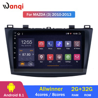2G RAM 32G ROM 9 Inch Android 8.1 Car Dvd Gps Player For 2006 2012 mazda 3 Radio Video Navigation