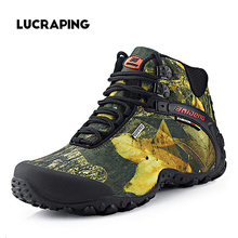 2016 new fashion outdoor climbing hiking boots waterproof men boot new style outdoor fun mountain trekking shoes hunting boots