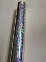 Holographic foil hot stamping foil silver small circle pattern B06 hot press on paper or plastic 64cm x120m