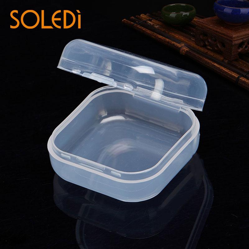 Mini Storage Box Home Jewelry Pacifier Storage Case Transparent Plastic