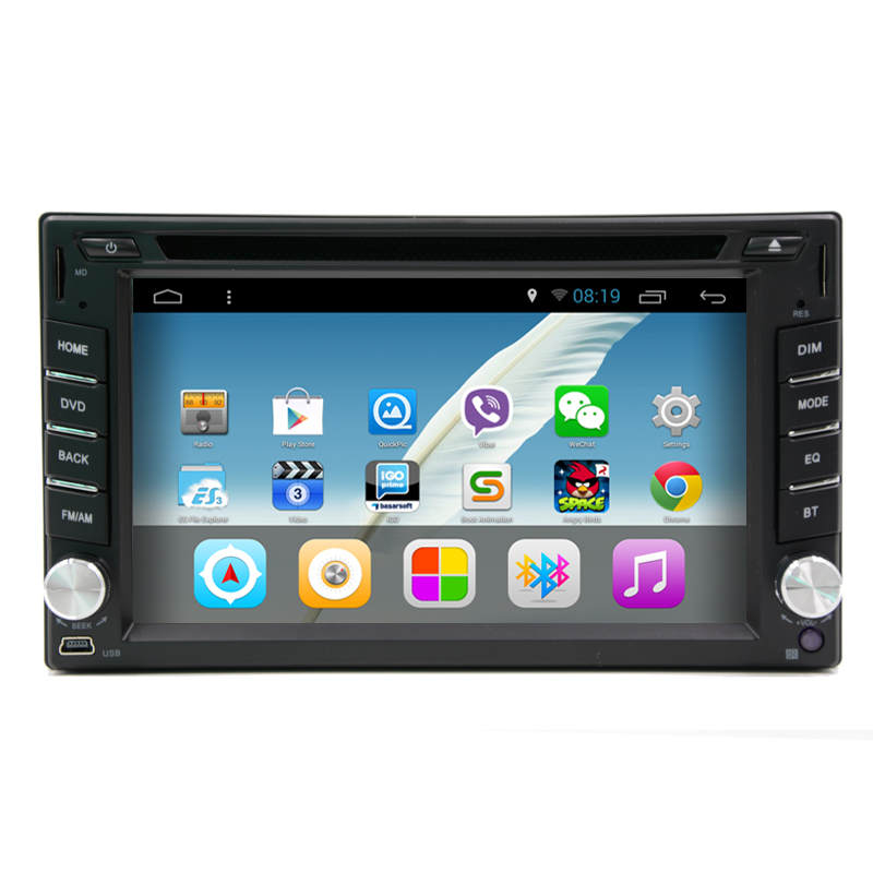 2 din android 4 4 quad core universal car radio dvd gps. Black Bedroom Furniture Sets. Home Design Ideas